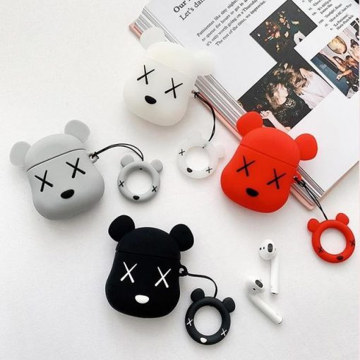 KAWS Red Bear Premium AirPods Case Shock Proof Cover