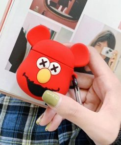 KAWS Red Fozzy Bear Premium AirPods Case Shock Proof Cover