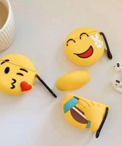Laughing Crying Face Emoji Premium AirPods Case Shock Proof Cover