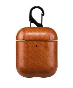 Light Brown Leather AirPods Case Shock Proof Cover