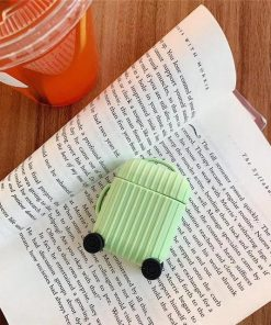 Lime Round Luggage AirPods Case Shock Proof Cover