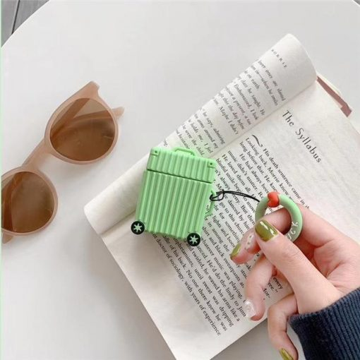 Lime Square Luggage AirPods Case Shock Proof Cover