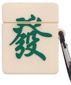 Mahjong 'Green Dragon' Premium AirPods Case Shock Proof Cover