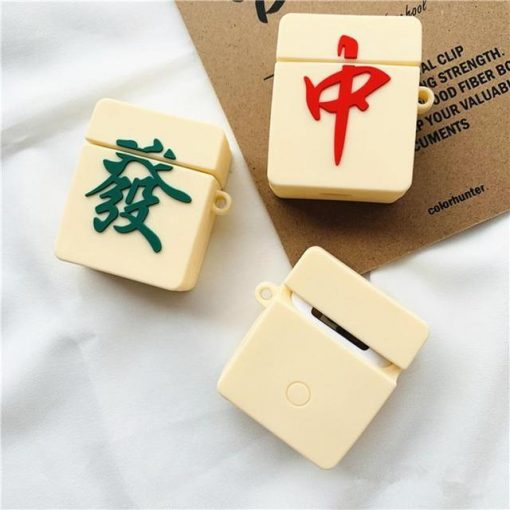 Mahjong 'Red Dragon' Premium AirPods Case Shock Proof Cover
