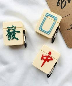 Mahjong 'White Dragon' Premium AirPods Case Shock Proof Cover