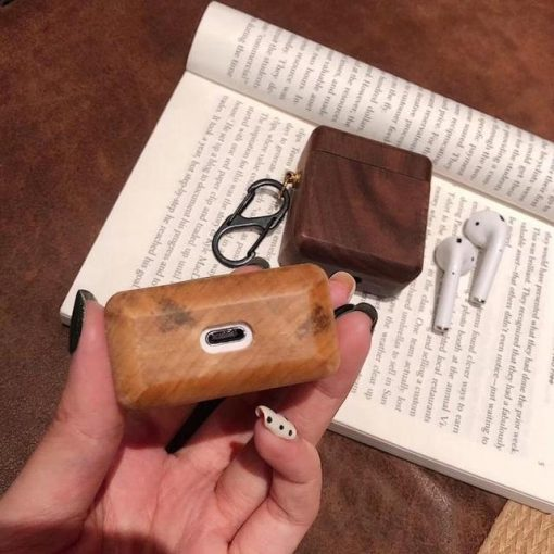 Mahogany Wood AirPods Case Shock Proof Cover