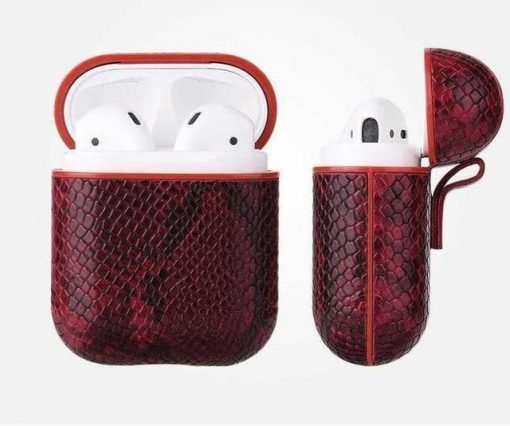 Maroon Rattle Snake AirPods Case Shock Proof Cover