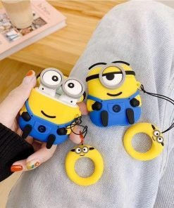 Minions Happy Navy Premium AirPods Case Shock Proof Cover