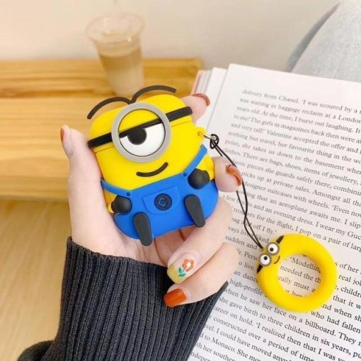 Minions Smirky Blue Premium AirPods Case Shock Proof Cover