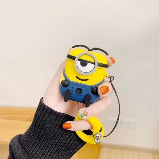 Minions Smirky Navy Premium AirPods Case Shock Proof Cover