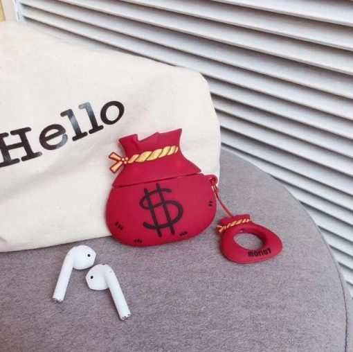 Money Bag 'Red' Premium AirPods Case Shock Proof Cover
