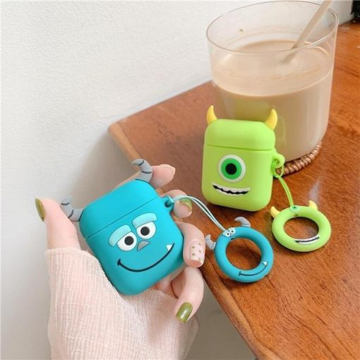 Monsters Inc Mike Wizowski AirPods Case Shock Proof Cover