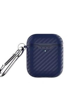 Navy Carbon Fiber Airpod 2 Case Wirless Charging Shock Proof Cover