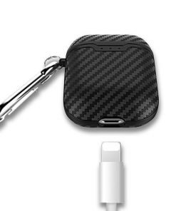 Navy Carbon Fiber Airpod Case Shock Proof Cover