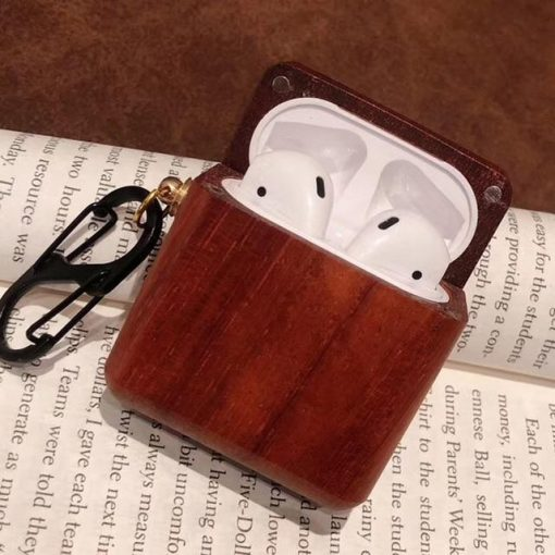 Oak Wood AirPods Case Shock Proof Cover