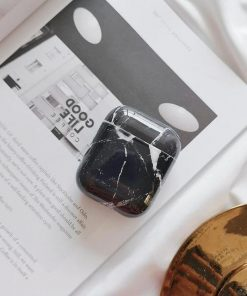 Obsidian Marble AirPods Case Shock Proof Cover