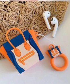 Orange and Blue Handbag Premium AirPods Case Shock Proof Cover