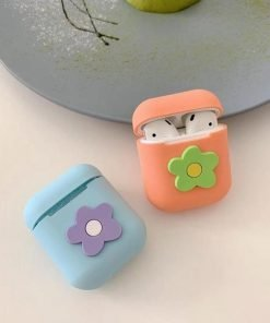 Orange Flower AirPods Case Shock Proof Cover