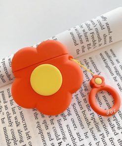 Orange Flower Premium AirPods Case Shock Proof Cover