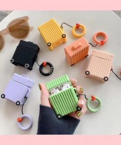 Orange Square Luggage AirPods Case Shock Proof Cover