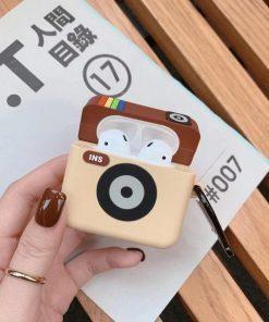 Original Instagram Camera Icon Premium AirPods Case Shock Proof Cover