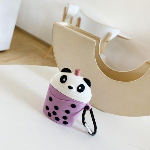 Panda BubbleTea Premium AirPods Case Shock Proof Cover