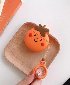 Peach Premium AirPods Case Shock Proof Cover