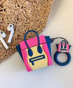 Pink and Blue Handbag Premium AirPods Case Shock Proof Cover
