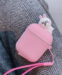 Pink Baby Bunny AirPods Case Shock Proof Cover