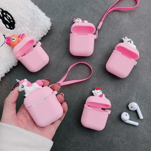Pink Baby Duck AirPods Case Shock Proof Cover