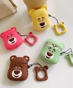 Pink Bear Premium AirPods Case Shock Proof Cover