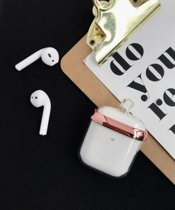 Pink Clear Acrylic Perfume Bottle AirPods Case Shock Proof Cover