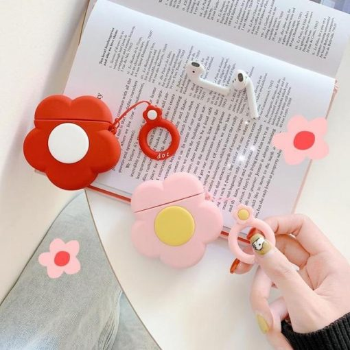 Pink Flower Premium AirPods Case Shock Proof Cover