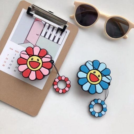 Pink Happy Sunflower Premium AirPods Case Shock Proof Cover