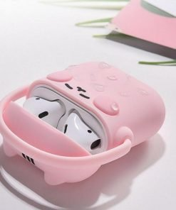 Pink Headphones Cat AirPods Case Shock Proof Cover