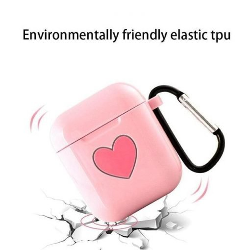 Pink Heart AirPods Case Shock Proof Cover