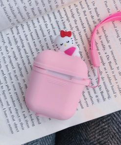 Pink Kitten AirPods Case Shock Proof Cover