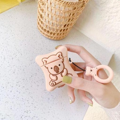Pink Koala Pillow Premium AirPods Case Shock Proof Cover