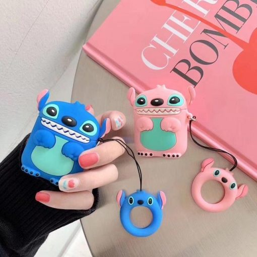 Pink Lilo and Stitch Premium AirPods Case Shock Proof Cover