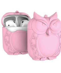 Pink Owl AirPods Case Shock Proof Cover