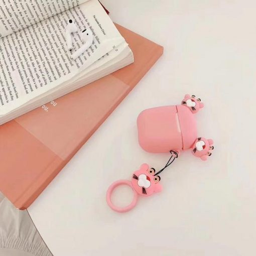 Pink Panther Ears AirPods Case Shock Proof Cover