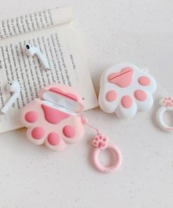 Pink Paw AirPods Case Shock Proof Cover