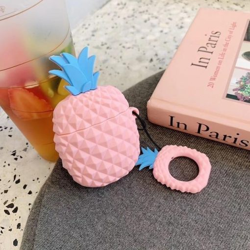 Pink Pineapple Premium AirPods Case Shock Proof Cover