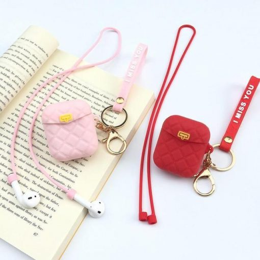 Pink Pocketbook AirPods Case Shock Proof Cover