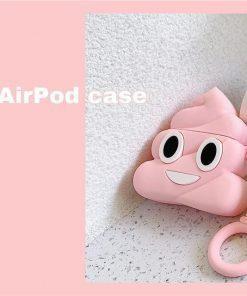 Pink Poop Emoji Premium AirPods Case Shock Proof Cover