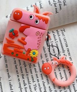 Pink Reindeer AirPods Case Shock Proof Cover