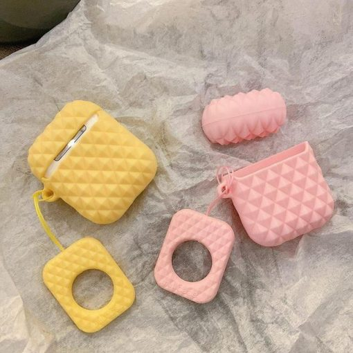 Pink Textured AirPod Case Shock Proof Cover