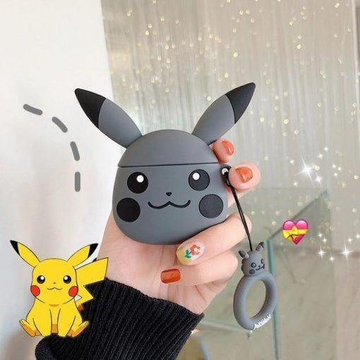 Pokemon Grey Pikachu Premium AirPods Case Shock Proof Cover