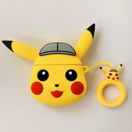 Pokemon Pikachu Grey Cap Premium AirPods Case Shock Proof Cover