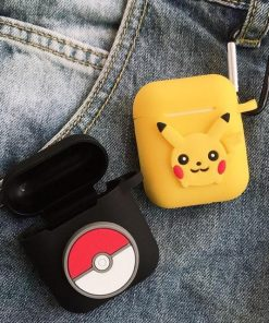 Pokemon Pikachu Logo AirPods Case Shock Proof Cover